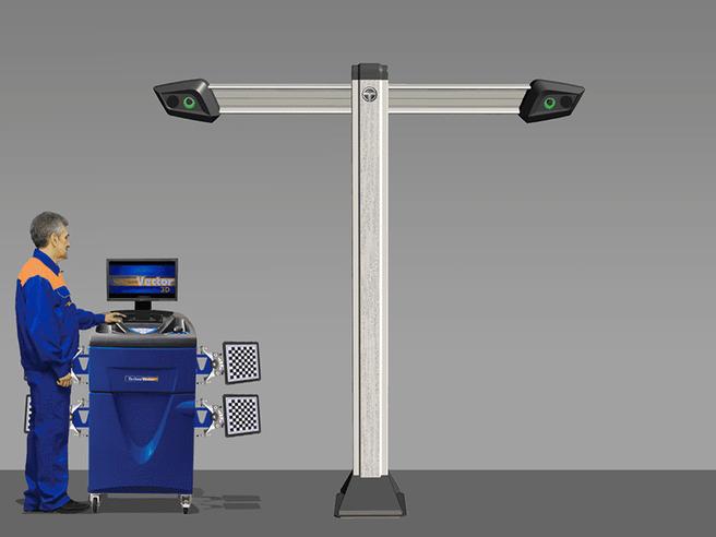 Техно Вектор 7 (V 7202 T 5 A) Стенд для сход-развала с технологией 3D Технокар Стенды сход-развал Автосервисное оборудование